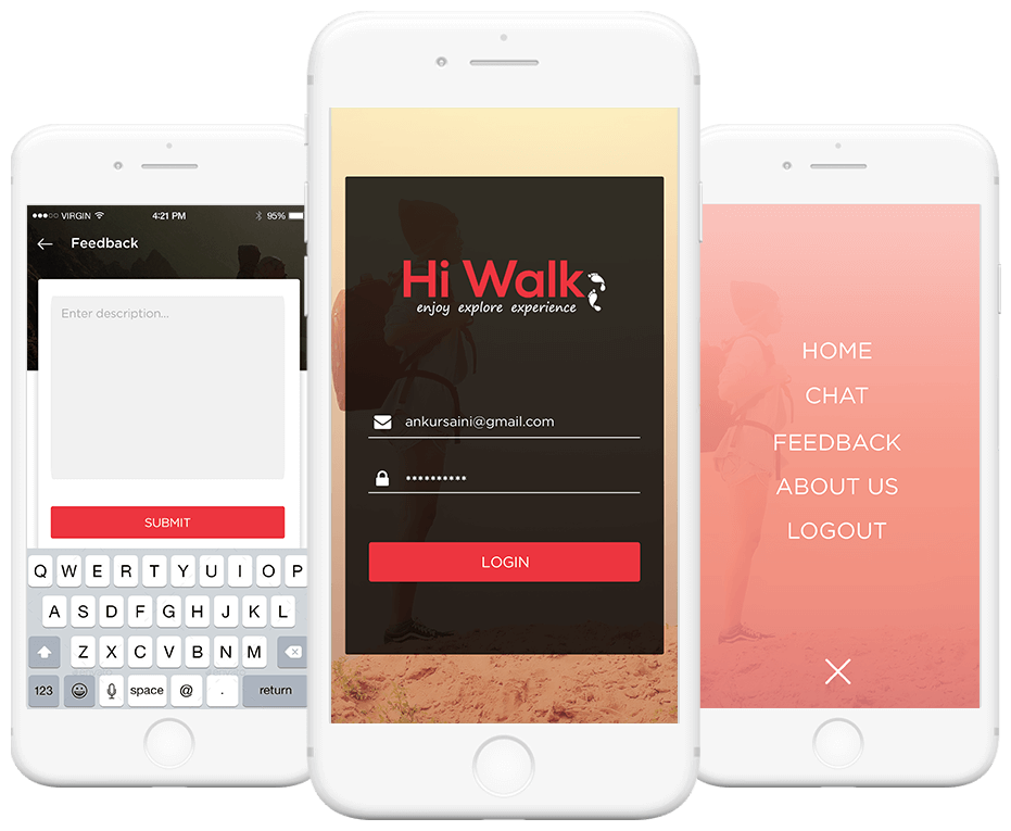 hiwalk - App for Tours and Travelers Landing image