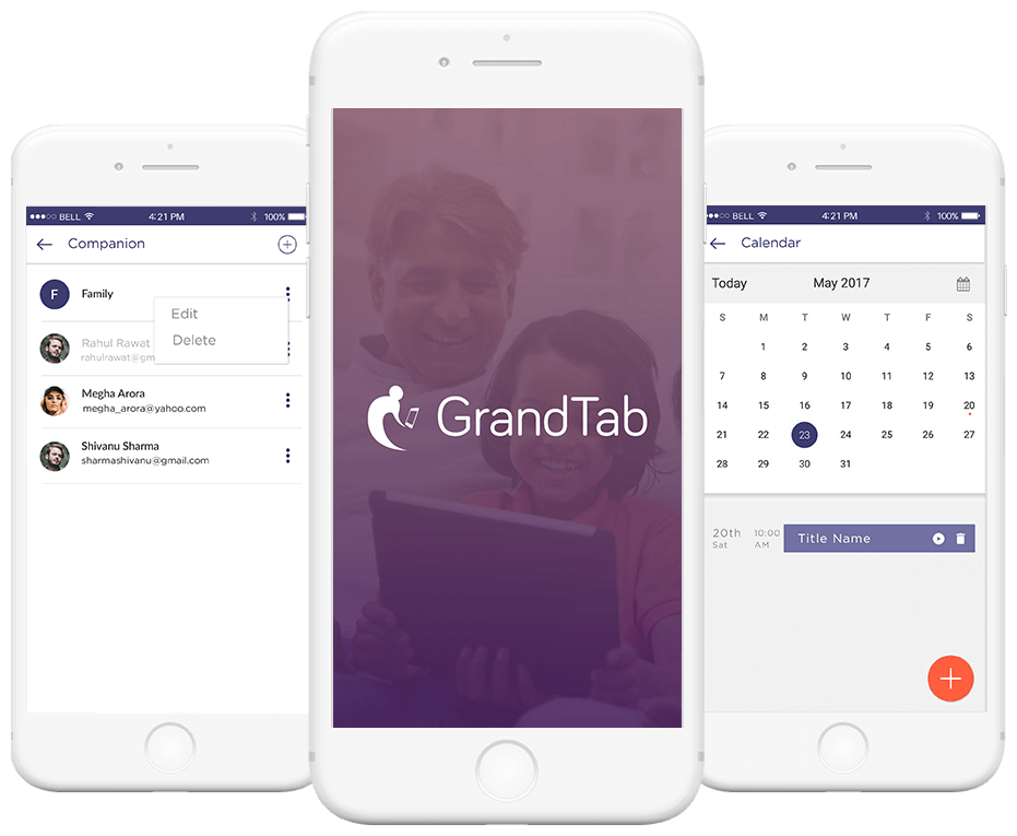 GrandTab - This app is a solution that bridges the gap between the older and younger generations, virtually to say the least Landing image
