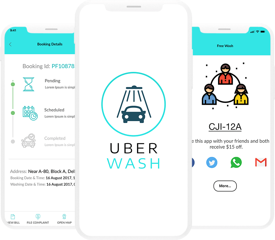 Uber Wash - On Demand Car Wash Platform Landing image