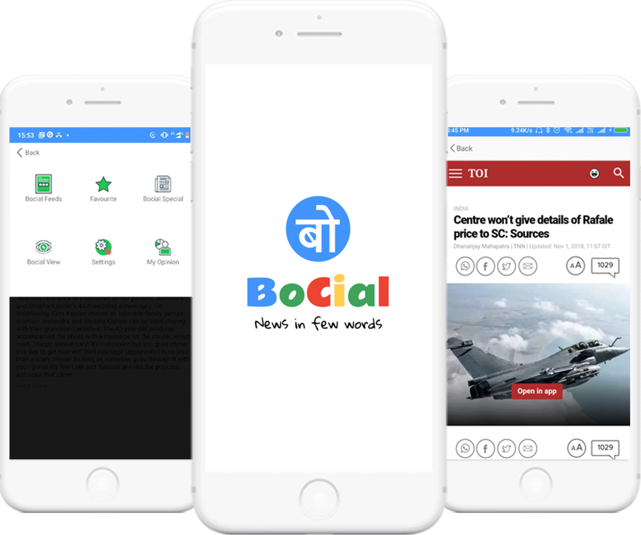 Bocial - Like to stay abreast with what's happening around the globe or want to keep a note of how your stocks doing in the market? Then Bocial is the app you need. Find out what it is and what it is going to be with just the touch of a button. Your news app in your pocket! Landing image