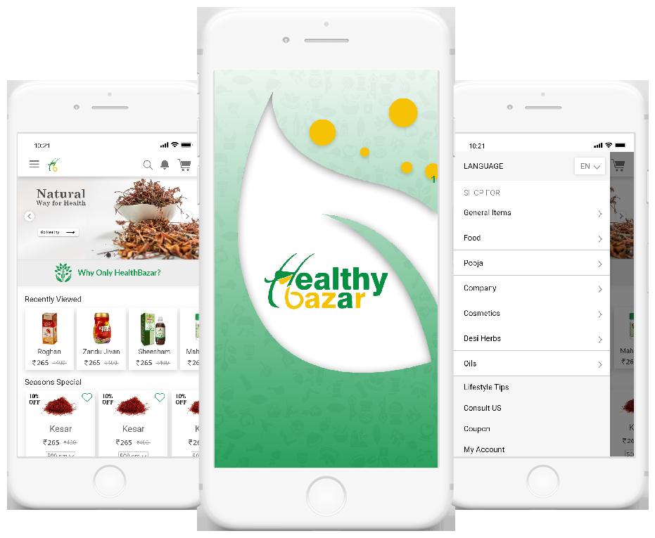 HealthyBazar - healthy-bazar-ecommerce-pwa-platform Landing image